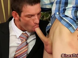 Bi guy acquires booty Railed