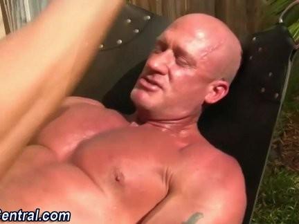 Muscly older bareback