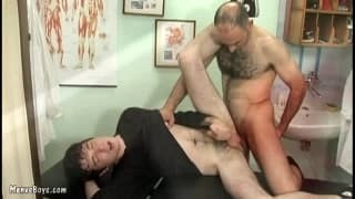 Two gay older males enjoy Each Others booties