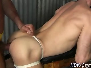Muscly chap raw cum Spray