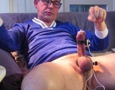 Electro Stimulating And Sounding My cock Till I cum Till The Very Last Drop Of ball ejaculate