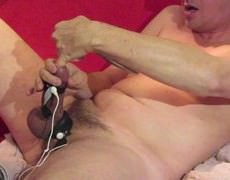 Electro Stimulating And Fingerfucking My penis.
