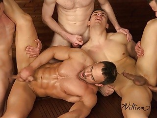 5 allies unprotected Easter jerk off Party