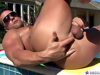 [GVC 207] cute rock hard man Masturbating By The Pool