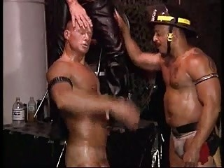 Muscles Leather Cigars And stunning Fireman