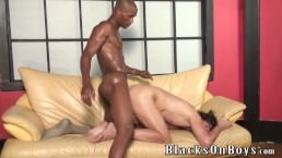 White man acquires drilled By A dark man bare Style