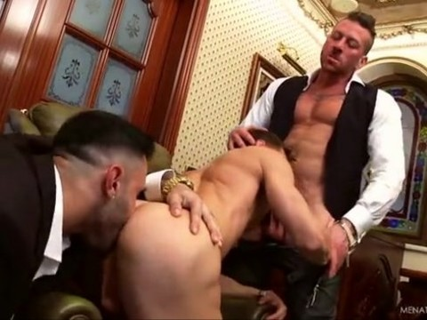 Muscle three-some In Suits