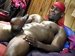 man jerking off In his Garage All Alone