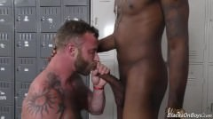 Bearded White man acquires assfucked By A darksome man