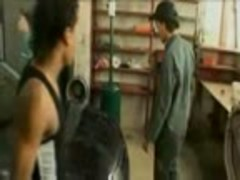 three guys screwing in ttgreetingss fellow garage