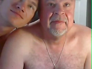 daddy man And young Play On web camera