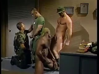 Soldiers sucking cocks
