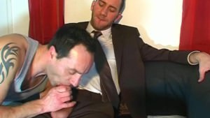 A innocent straight guy Serviced His large pecker By A guy In Spite Of Him!