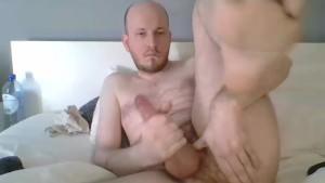 chap Masturbating, Fingering And Cumming After Taking Humiliating Poses
