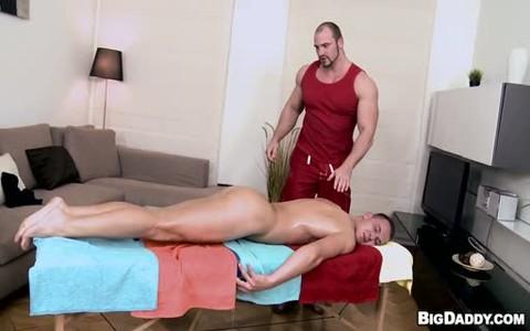 Hunks painfully pooper Massage