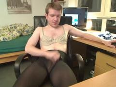 Elmar Wanks In hose, Swimsuit And Bra
