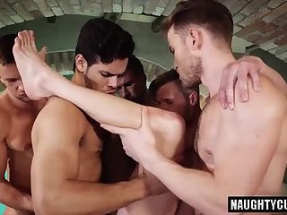 horny gays trio With ejaculation