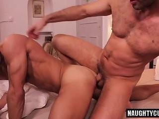 bushy Bottom arse stab With ejaculation