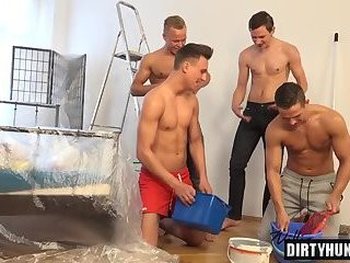 Muscle twink blow job And cumshot