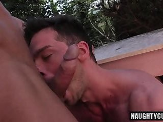large knob Daddy ass To mouth And cum flow