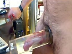 Pumping Session And dildo poke.. long jerk off Session