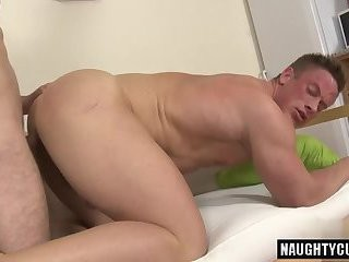 nasty twink raw And ball cream flow
