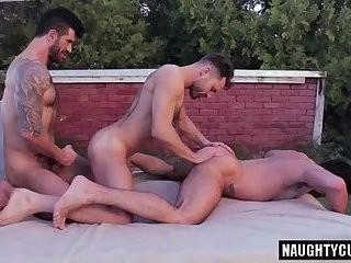 Tattoo homosexual men Flip Flop With Facial