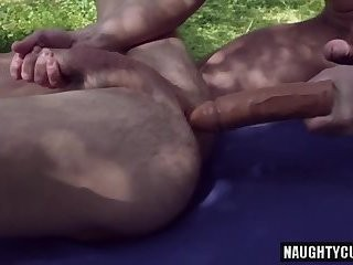Russian homosexual studs Gaping And ball batter flow