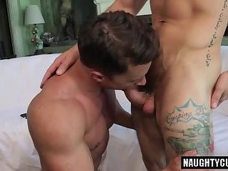 Russian gays Flip Flop With ejaculation