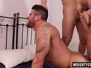 wild homosexual Flip Flop With Facial