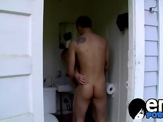 wild males Philip And Chris Having coarse pounding In A crapper
