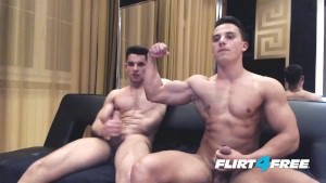 pumped up Ripped men Show Off Monster ramrods