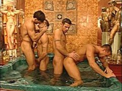 sexy Italian men Share Pgazooionate Sex Session in sexy Tub