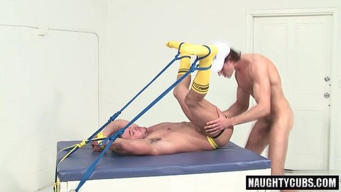 brunette cock bound With Facial