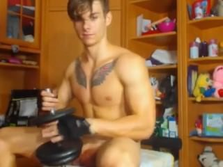 My Kinda Workout And Fitness On The cam With His Girlfriend.