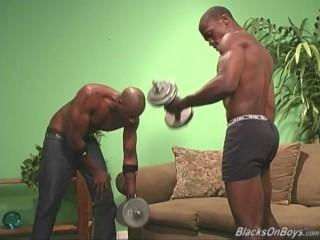muscular dark men pooper pounding A White dude