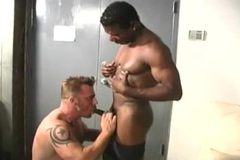 muscular White twink Makes Love With A black chap