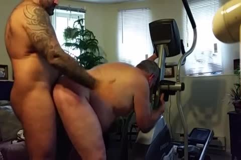 chubby Daddy gets drilled By Muscle Bear