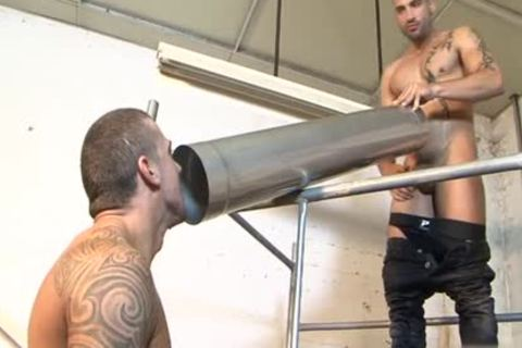 Tattoo gay piss With cumshot