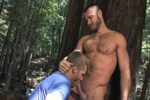 Muscle homo Outdoor Sex And dick juice flow