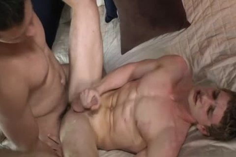 Muscle homosexual ass job With swallow