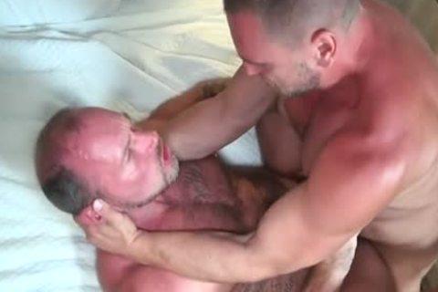 large 10-Pounder homo butthole-copulation With ejaculation