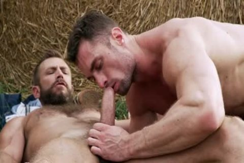Muscle gay ass To throat And Creampie