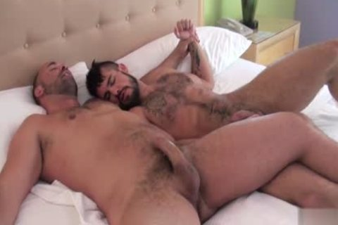 Muscle homo irrumation With cum flow