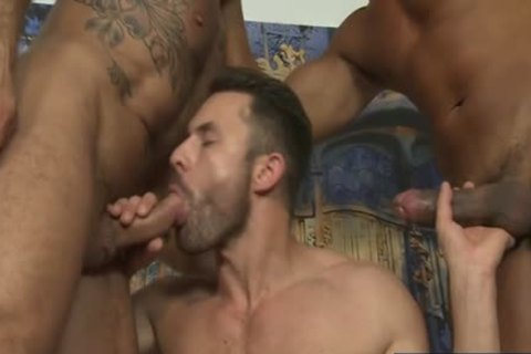 Latin Son threesome And sperm flow