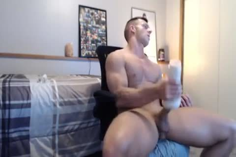 wild Fit nail Gives His Fleshlight A valuable banging