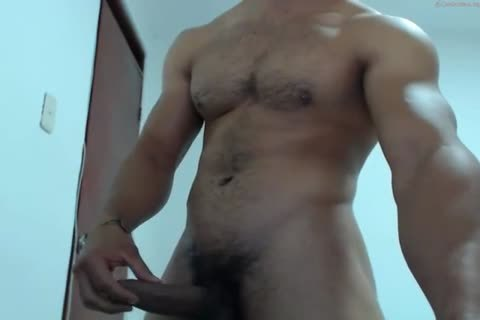 muscular Latino shoots A gigantic Load To His filthy Abs