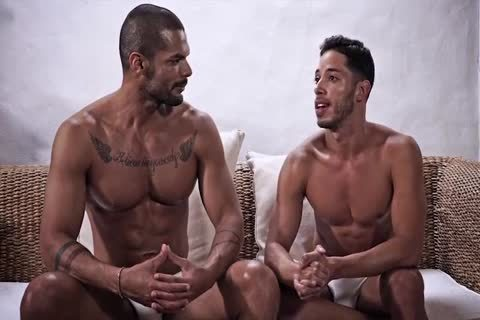 black Muscle gay man pound To one greater quantity man With B