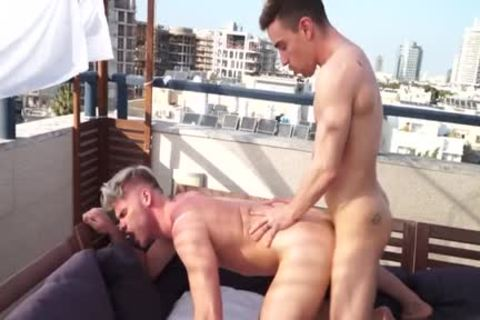 Muscle gay ass sex With Facial