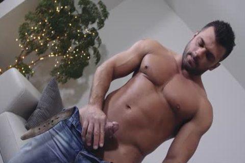 large penis homosexual irrumation stimulation With Facial